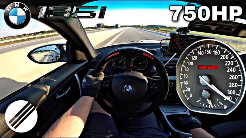 750HP BMW 135i E82 N54 Bi Turbo TOP SPEED DRIVE ON GERMAN AUTOBAHN🏎