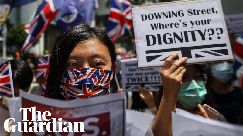 Hong Kong protesters sing 'God Save The Queen' in plea to Britain