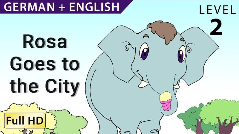 Ein Elefant in der Stadt Bilingual- Learn German with English - Story for Children BookBox.com