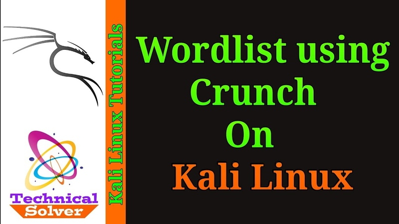 How to create wordlist using crunch on kali Linux