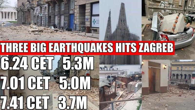 EARTHQUAKE IN ZAGREB CROATIA POTRES U ZAGREBU 22 3 2020