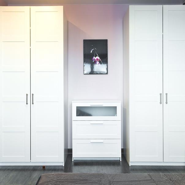 Хранение вещей можно организовать двумя способами: в гардеробах...