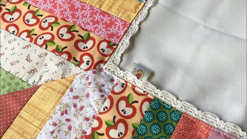 Toalha mesa com retalhos e canto mitrado retalhos cantomitradofacil costura patchwork