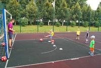 Занятие младшей группы на спортивной