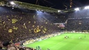 Amazing! Celebration of the fans of The Yellow Wall of Dortmund after the match against Bayern