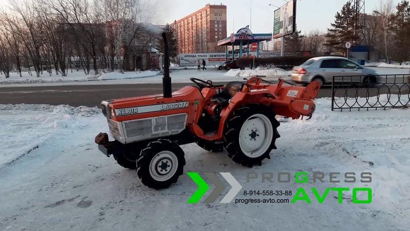 Мини-трактор KUBOTA L1-802DT без ПСМ с фрезой 4WD