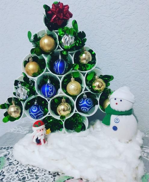 Благодаря вашей группе взяла идею) Наше новогоднее чудо)Поделка в садик