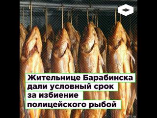Жительнице Барабинска дали условный срок за избиение полицейского рыбой | ROMB