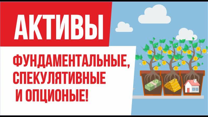 Фундаментальные активы, спекулятивные активы и опционы активы! | Евгений Гришечкин