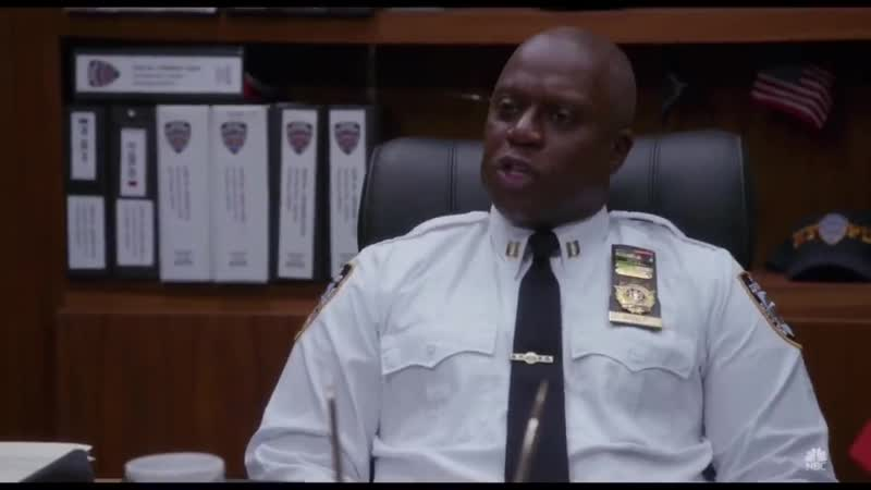 Captain holt acting like a robot pretending to be human
