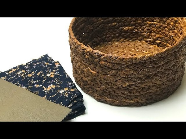 DIY Wicker basket from paper napkins