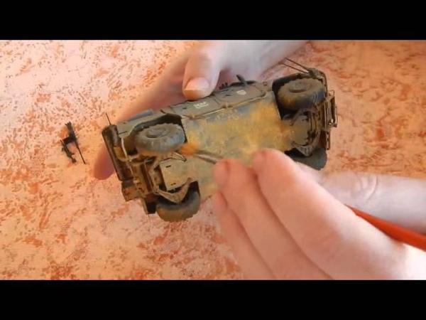 IVECO LMV Lince ITALERI часть№15 Пигменты! pigments! нанесение пигментов на модель!