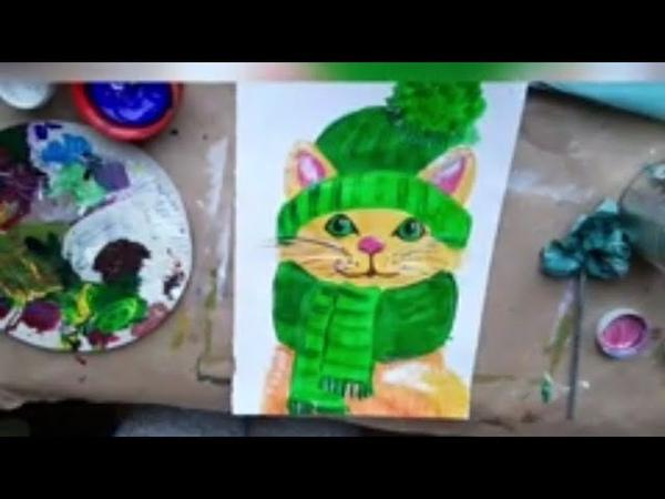 КОТ Как нарисовать Урок рисования для детей