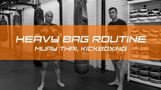 Muay Thai and Kickboxing Heavy Bag Training Circuit