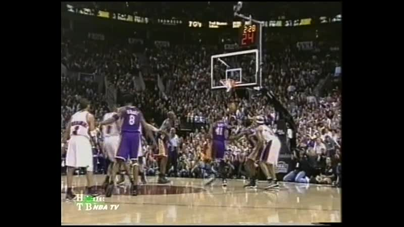 NBA WCF 2000 Lakers Trail Blazers G3 3rd quarter