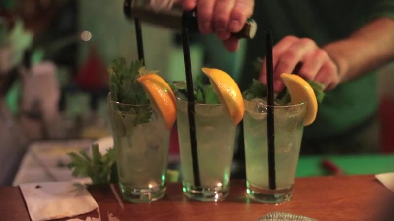Cocktails free video for vlog