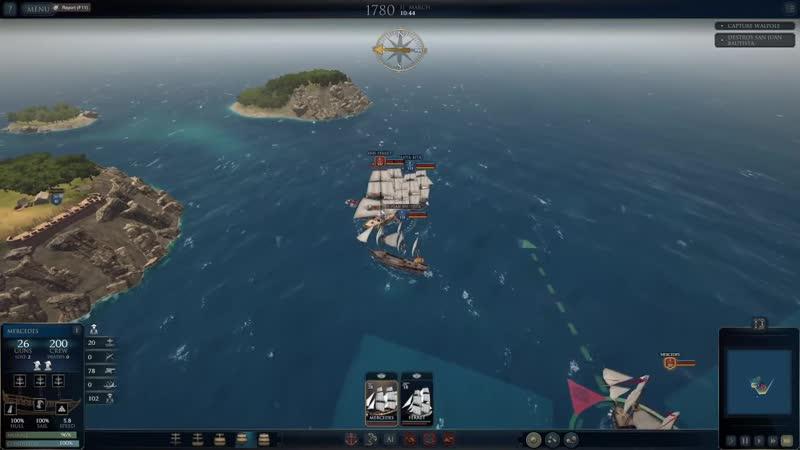 JeKaa Ultimate Admiral Age of Sail прохождение Захват торгового судна 2