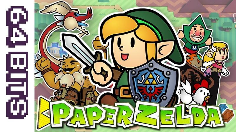 64 Bits Paper Zelda A Crafted Parody