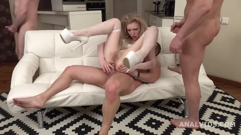 Thats a DAP, isnt it Lizi Smoke first time 2 dicks in the ass with Balls Deep Anal, Gapes and
