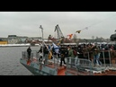 Во время подъема Андреевского флага на корвете «Гремящий» в воду упал журналист
