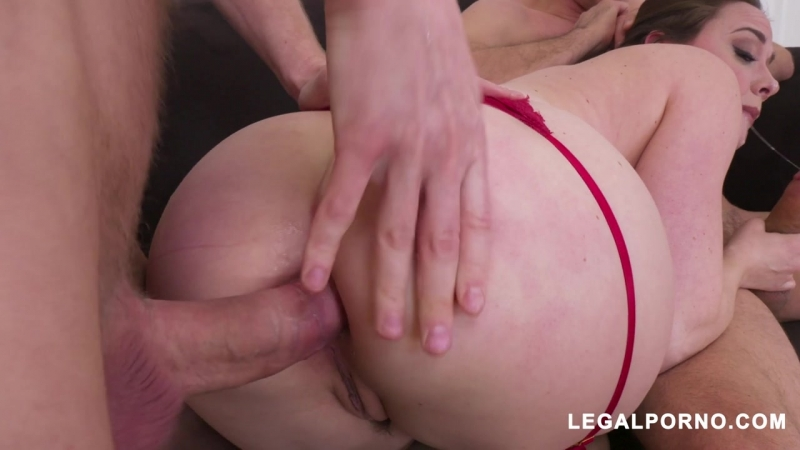 Chanel Preston (Horny slut Chanel drilled by two cocks AB011)[2018, Gape, DAP, Anal, DP, Big tits, Lingerie, Stockings, 720p]