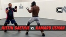 Justin Gaethje Throws Hands With Kamaru Usman | SPARRING