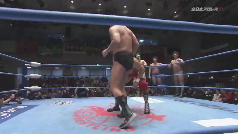 Jun Akiyama Masanobu Fuchi Osamu Nishimura Rising HAYATO vs Atsuki Aoyagi Hokuto Omori SUSHI Takao Omori