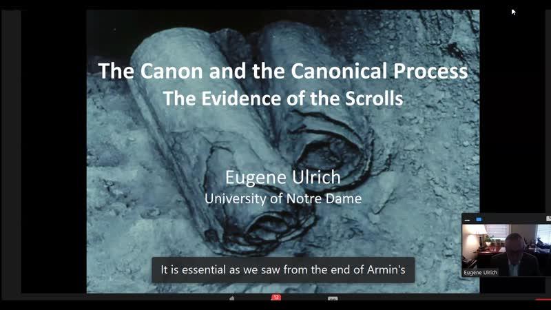 Eugene Ulrich Канон и процесс закрытия канона Свидетельство рукописей University of Notre Dame