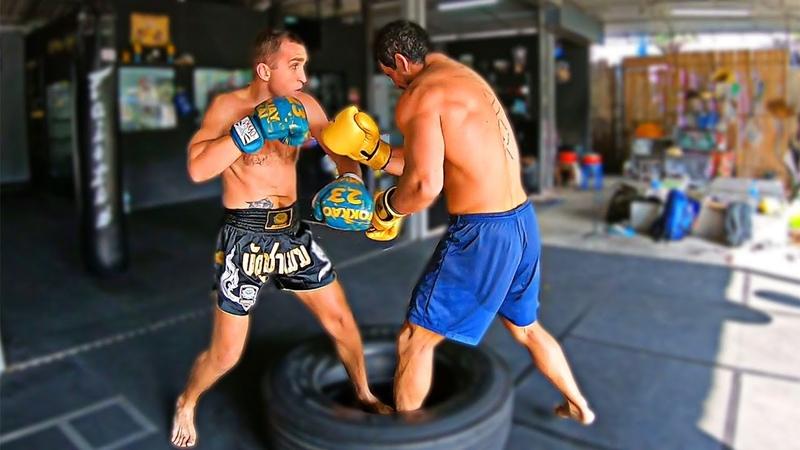 Закалка характера в Тайских кемпах / Как не бояться ударов / Боксерское упражнение