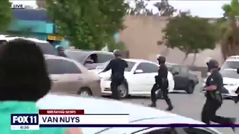 Blind deaf retarded US Police forces arresting the victims random people while letting the criminals escape