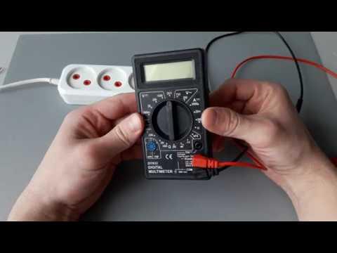 Как измерить напряжение в сети в розетке