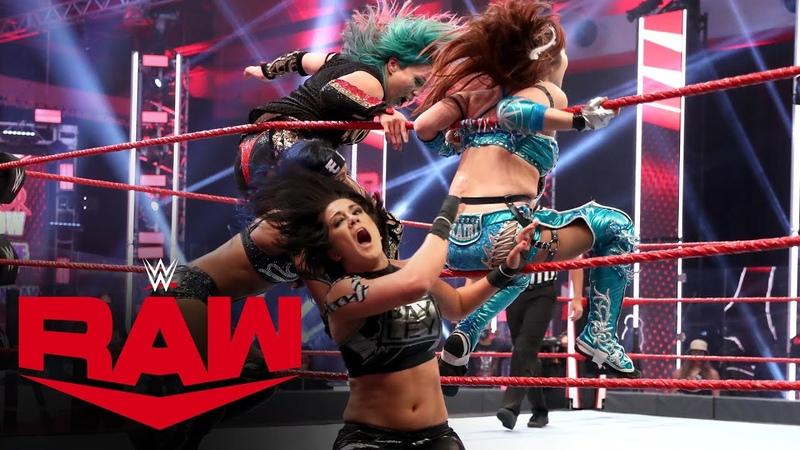 SBMKV Video Sasha Banks Bayley vs The Kabuki Warriors WWE Women's Tag Team Title Match Raw July 13 2020