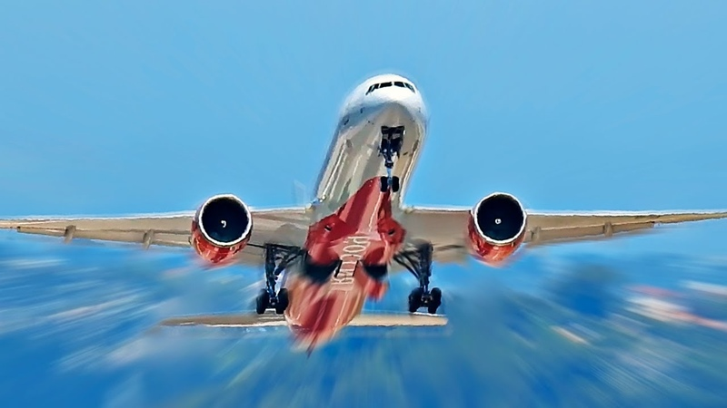 12 Мощных взлетов Боинг 747 767 777 787 Airbus A330 Ил 76 Ил 96