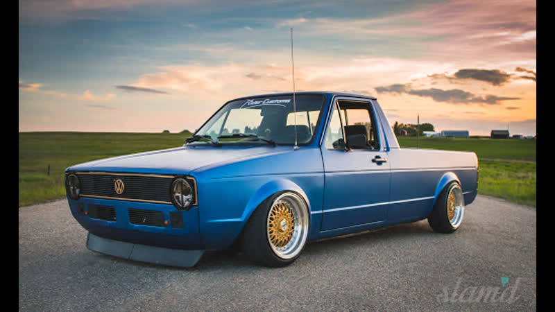 VW Caddy MK1 14D Stance Low