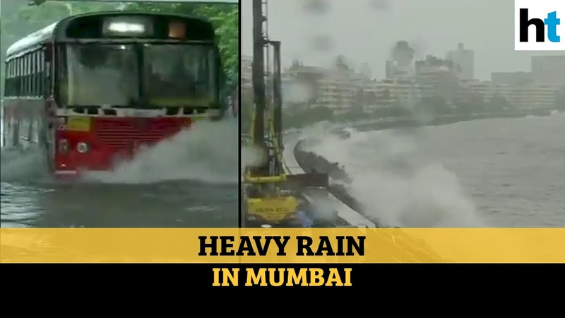 Watch High tide in Mumbai heavy rains lash city for 3rd consecutive day