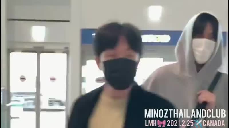 20210225 Ли Мин Хо и Чоко в аэропорту Инчхон - отправляется в Канаду на съемки Пачинко cr. get_minhoonlyy