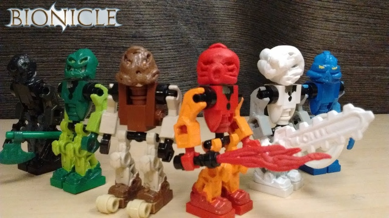 Bionicle Toa Mata custom lego minfigure showcase