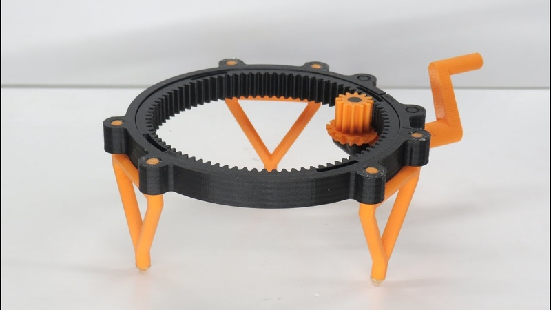 Fully 3D printable turntable