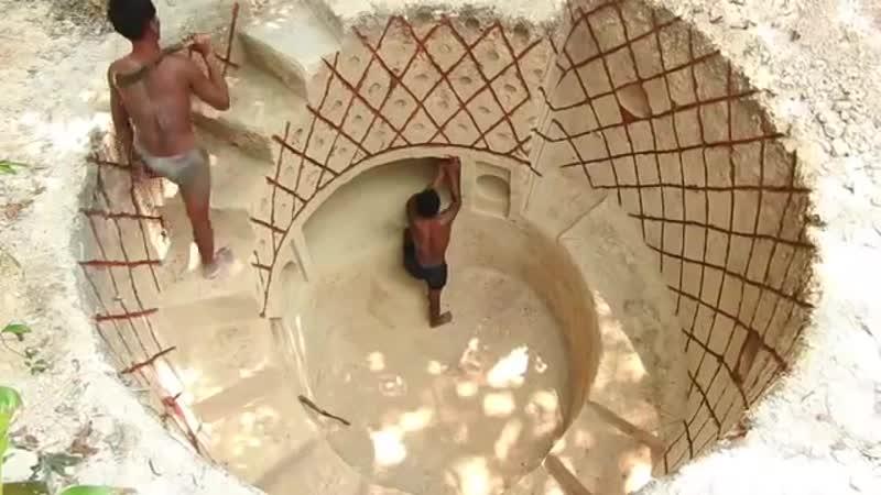 Построили секретный бассейн под землей