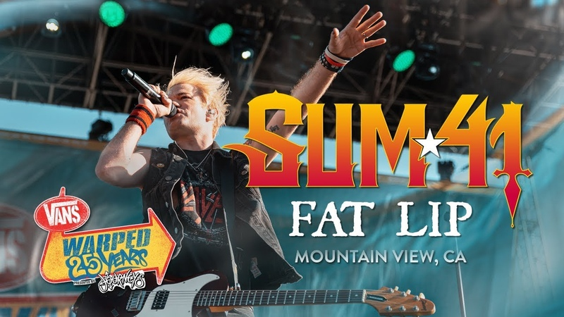 Sum 41 Fat Lip LIVE Vans Warped Tour 25th Anniversary 2019