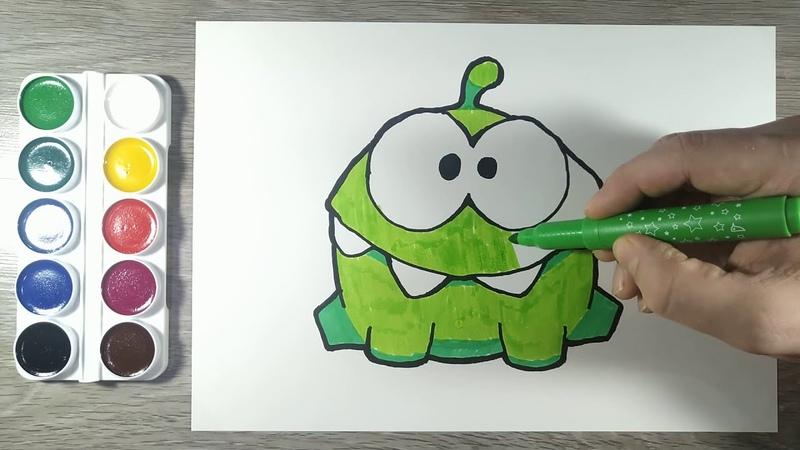 Как нарисовать Ам Няма Персонаж из Приключения Ам Няма Раскраска для детей Рисунки для начинающих