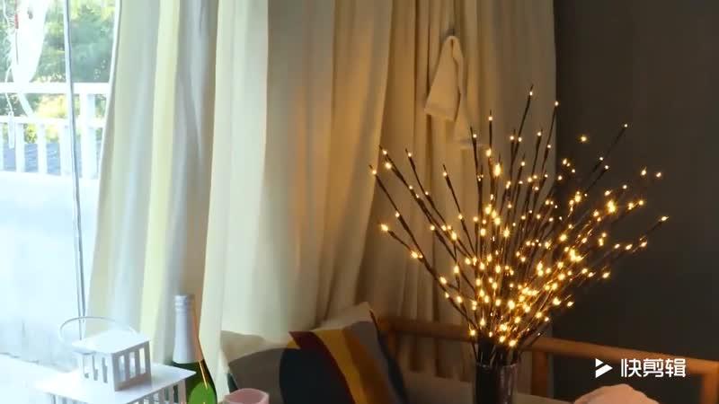 Светодиодный светильник ветка ивы Цветочные Огни 20 ламп
