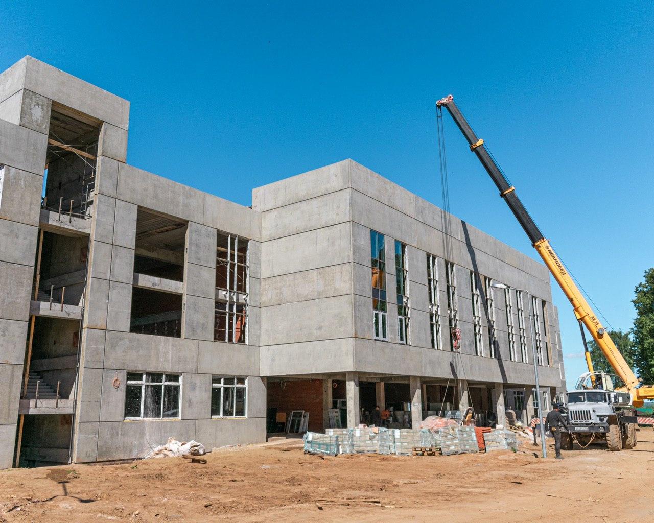 Строитеьство школы на Уральской, Чайковский, 2020 год