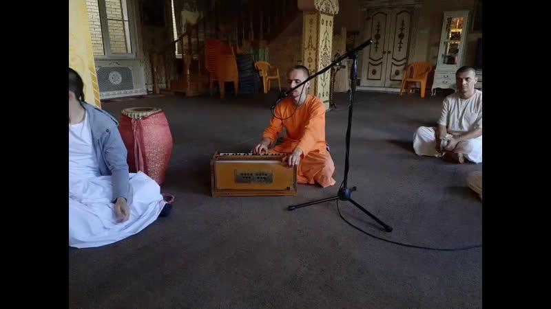 Киртан Гаура арати и Даршан Шри Шри Радха Говинды 20 05 2020