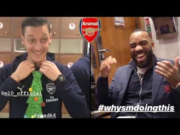 Arsenal Inside Dressing room Funny Videos | Lacazette, Mesut Ozil