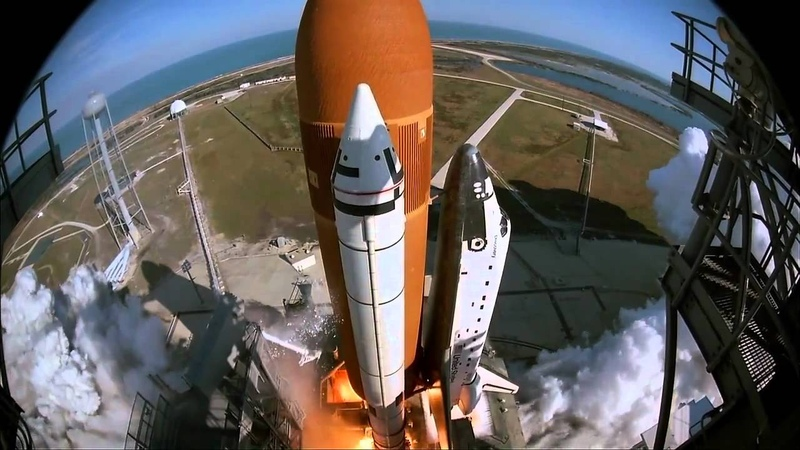 STS 51C Launch IMAX Camera Footage HD