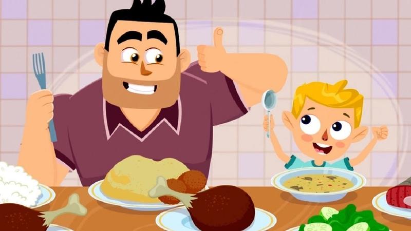 Фиксики Фикси советы: Как правильно питаться Бутерброд Fixiki