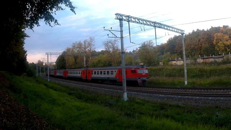 Электропоезд ЭД2Т-0018 перегон Латышская-Нара 7.09.2019