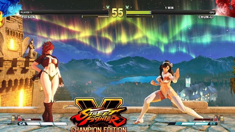 Street Fighter V AE Poison vs Chun Li PC Mod 6