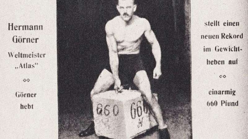 IN HONOR OF THE 100th ANNIVERSARY OF HERMANN GOERNER'S ONE HAND 330KG DEADLIFT RECORD РЕКОРДУ 100